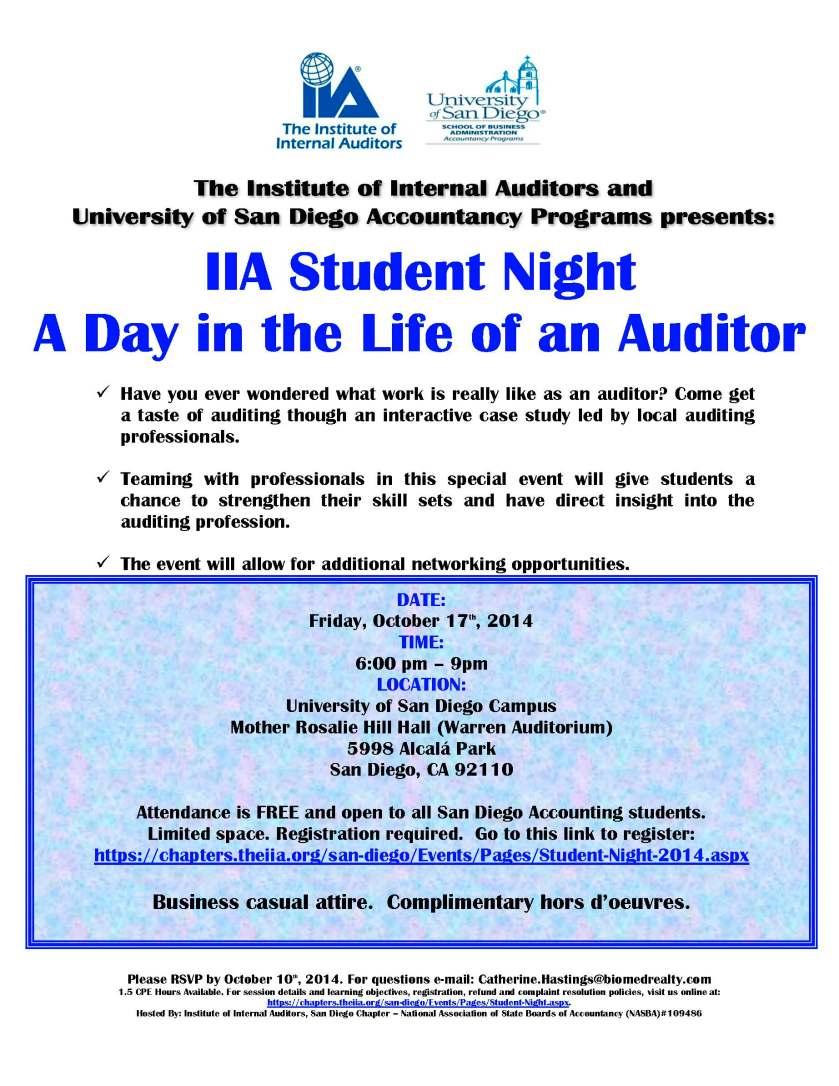 IIA Student Flyer 2014