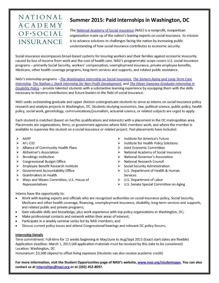 NASI Summer Internship Programs Flyer - 2015_printed version