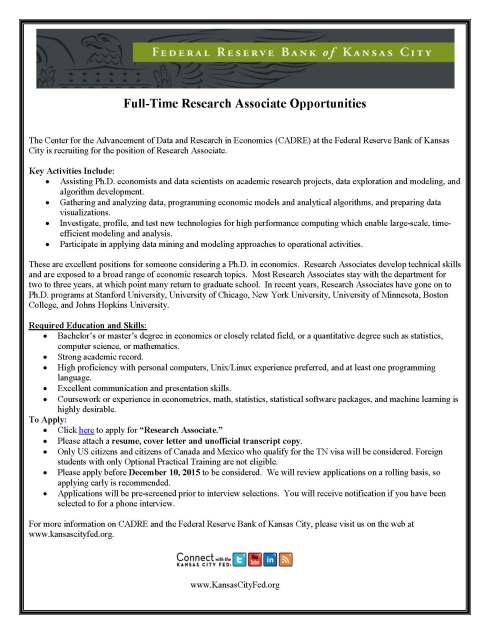 RA Job Description Fall 2015 - CADRE