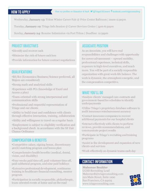 Triage Consulting Group_Associate Flyer