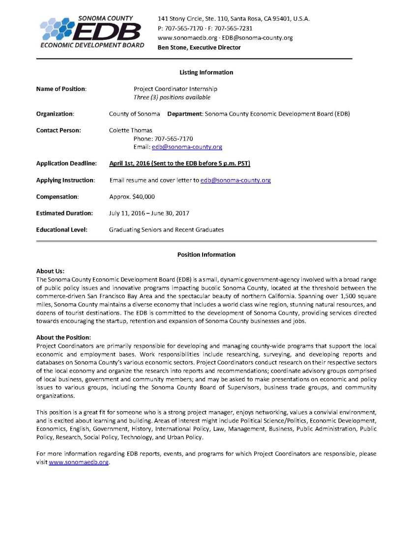 Project Coordinator Listing.V2