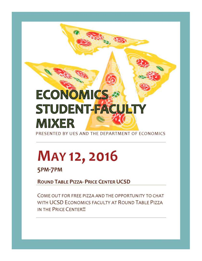 Economics Student-Faculty MIxer