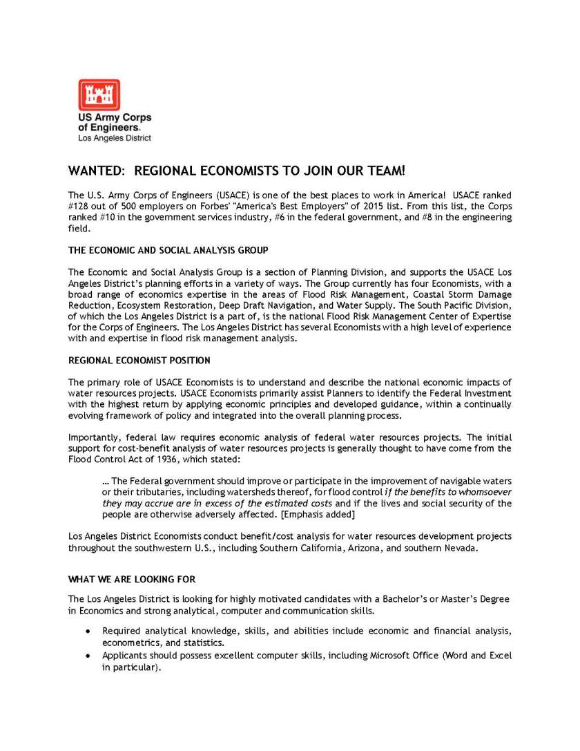 Economist Positions with the Corps - Info for Potential Applicants_Page_1
