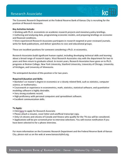 cover letter sample research associate